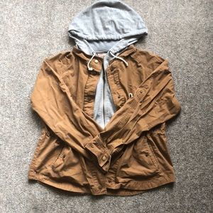 Forever21 Contemporary Hooded Brown Utility💋